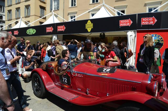 Gazebo all'evento Mille Miglia 2012