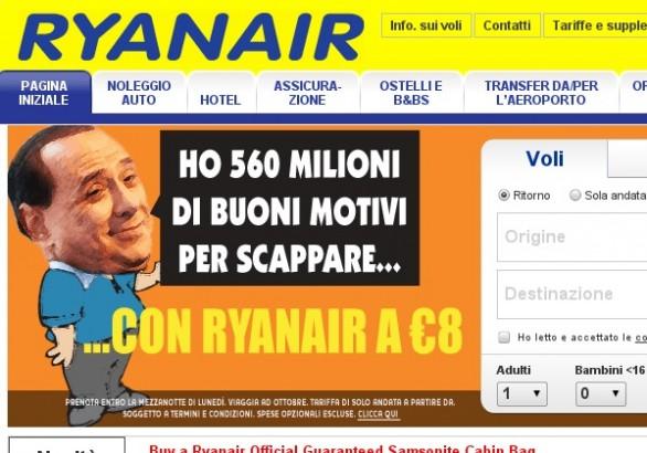 Campagna Ryanair Berlusconi