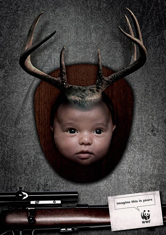 WWF Baby Deer advertising