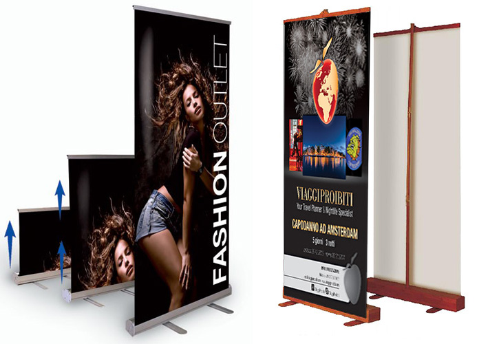 Espositore Roll-Up Flash