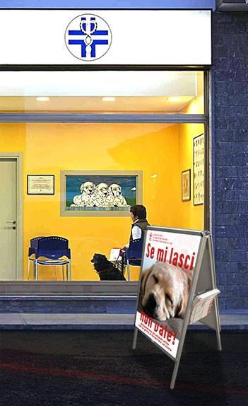 Insegna luminosa e cavalletto pubblicitario per clinica veterinaria