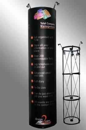 Espositore pubblicitario Tower con struttura Pop-Up