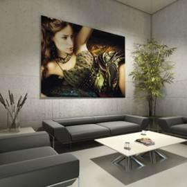textile frame con installazione a parete