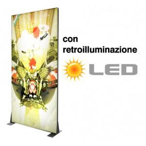 textile frame autoportante con retroilluminazione LED