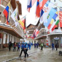 Bandiere nazionali villaggio olimpico