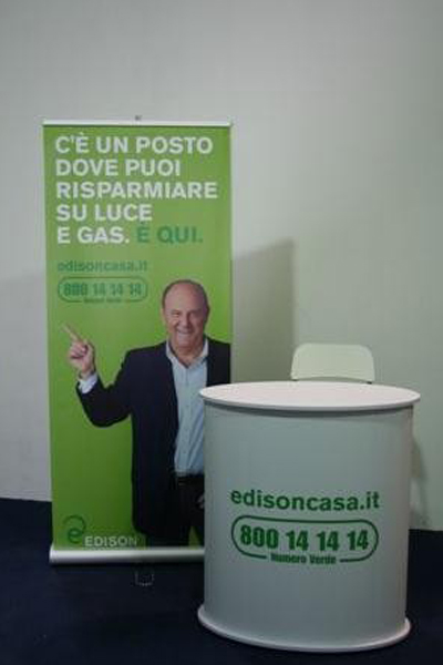 Espositore Roll-Up banner display bifacciale