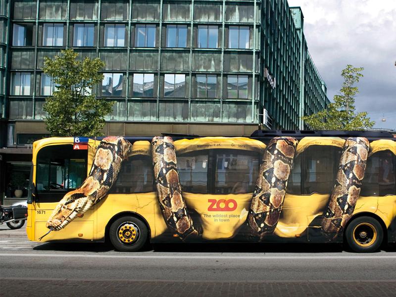 pubblicità dinamica su autobus