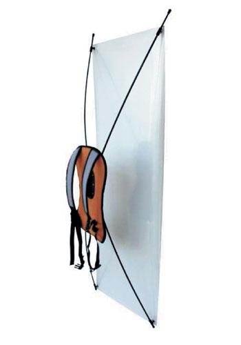 Pubblicità mobile con zainetto Banner Display