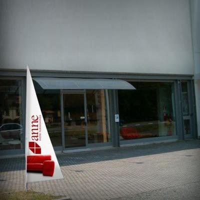 Bandiera pubblicitaria triangolare modello Pitagora