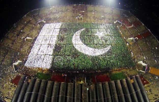 Bandiera umana da record in Pakistan