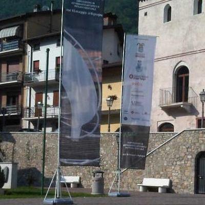 Bandiere pubblicitarie rettangolari modello Eolo Big