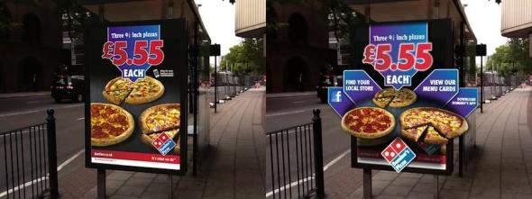 Pubblicità con realtà aumentata per Domino Pizza