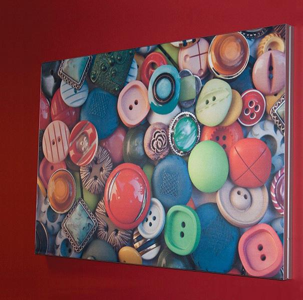 Espositore Textile frame da parete