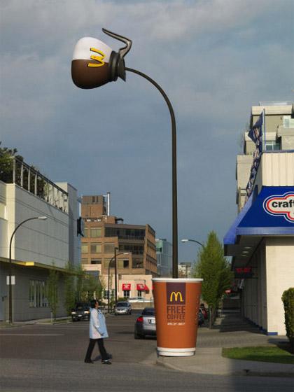 Guerrilla Marketing Installazione McDonalds