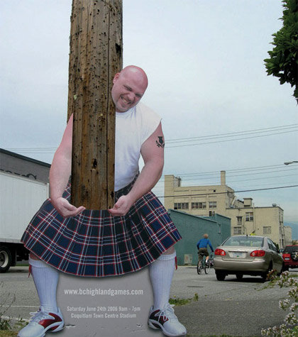 Guerrilla Marketing pannello su un albero