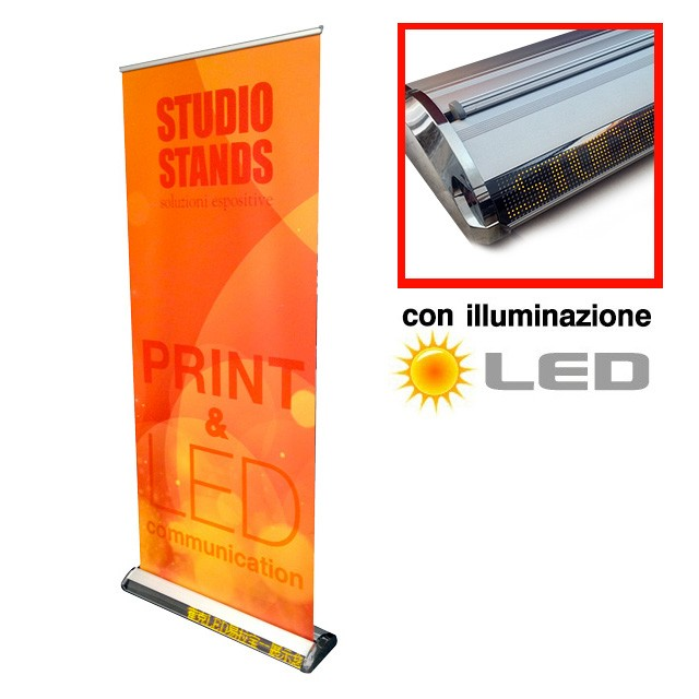 roll-up con pannello led