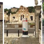 Totem nel centro storico di Brescia