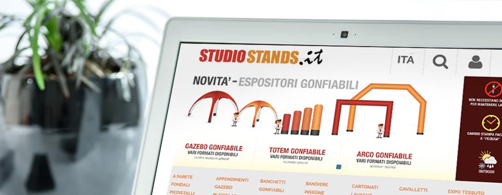 il nuovo e-commerce per espositori pubblicitari Studio Stands