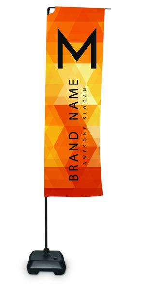 Bandiera rettangolare Eolo Small