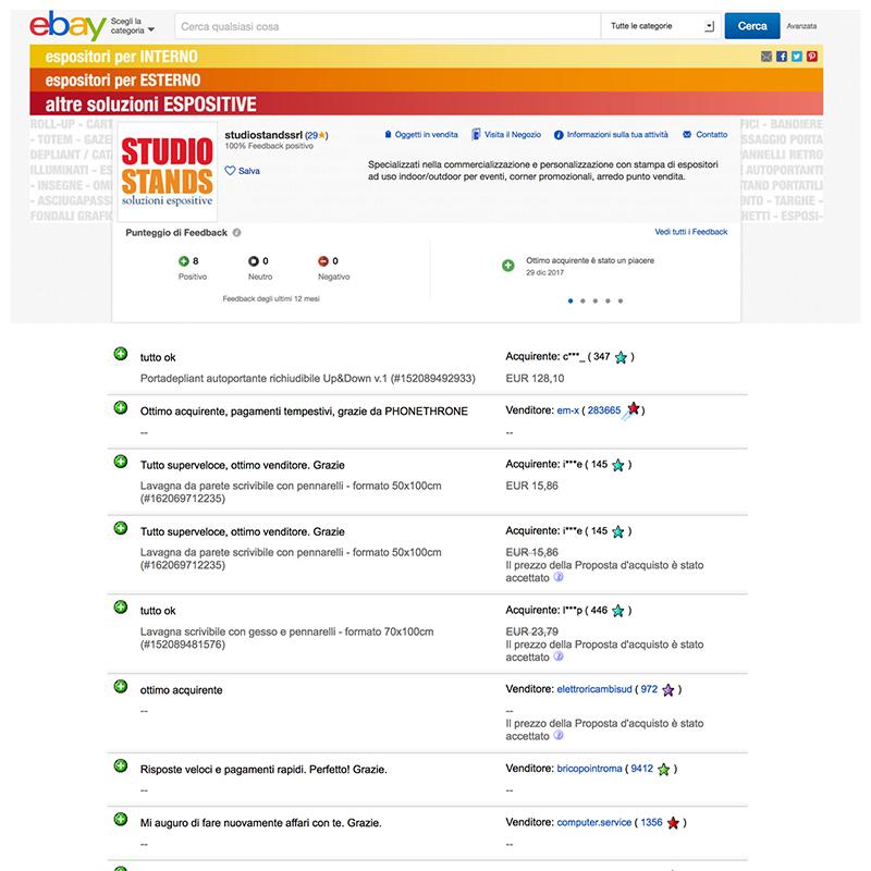 recensioni online su eBay