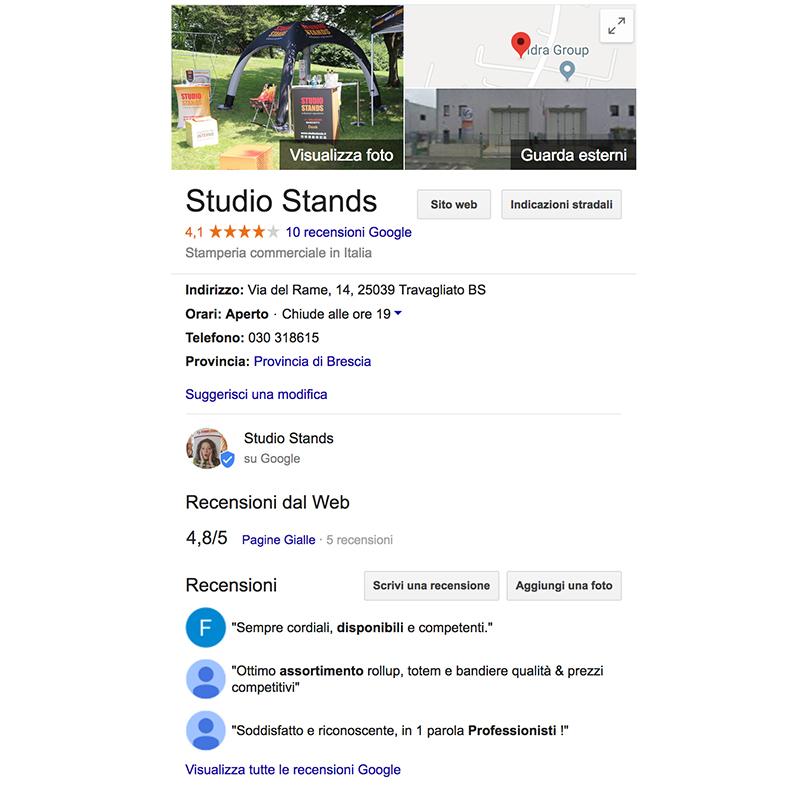 recensioni online su Google
