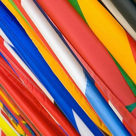 tessuto poliestere nautico per bandiere