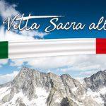 Tante bandiere tricolori per consacrare l'Adamello a Vetta Sacra alla Patria