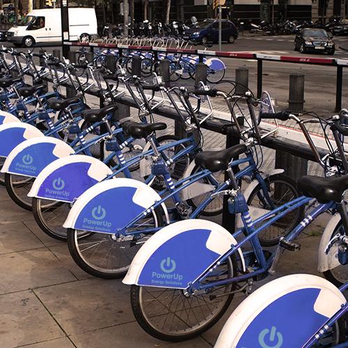 pubblicità dinamica su biciclette
