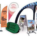 Espositori per eventi ciclistici: gonfiabili, gazebo, bandiere, …
