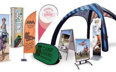 Espositori per eventi ciclistici