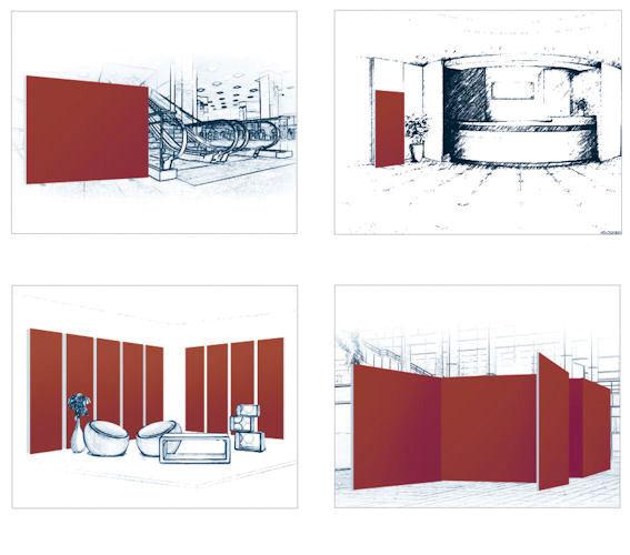 Applicazioni fondali Textile frame