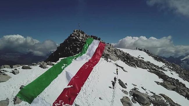 Adamello Vetta Sacra della Patria: Tricolore di 50m
