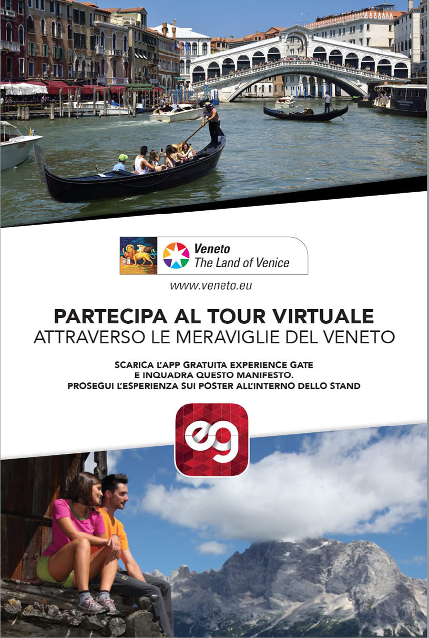 Realtà aumentata Experience Gate per Regione Veneto