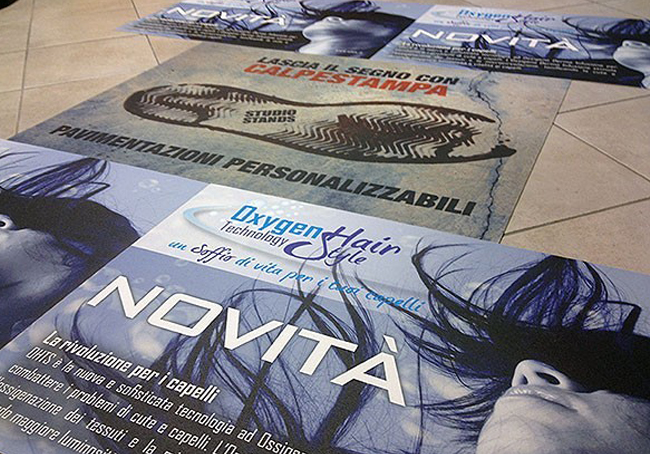 calpestampa: tappeto personalizzato