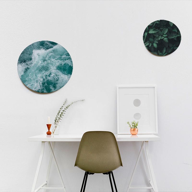 Textile frame slim con telai circolari
