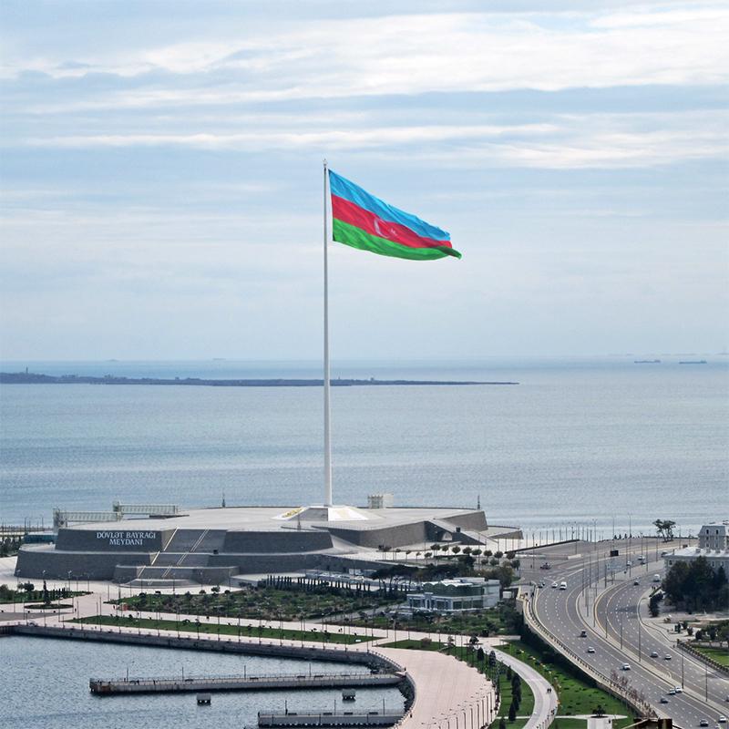 Pennone portabandiera a Baku