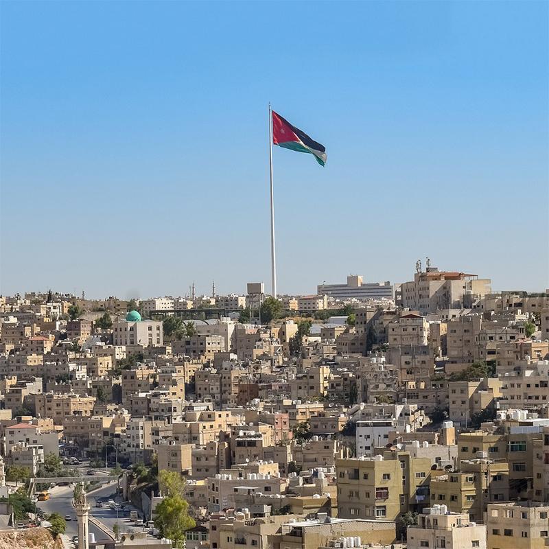 Pennoni più alti: Raghadan ad Amman
