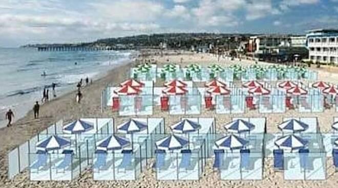 box in plexiglas da spiaggia