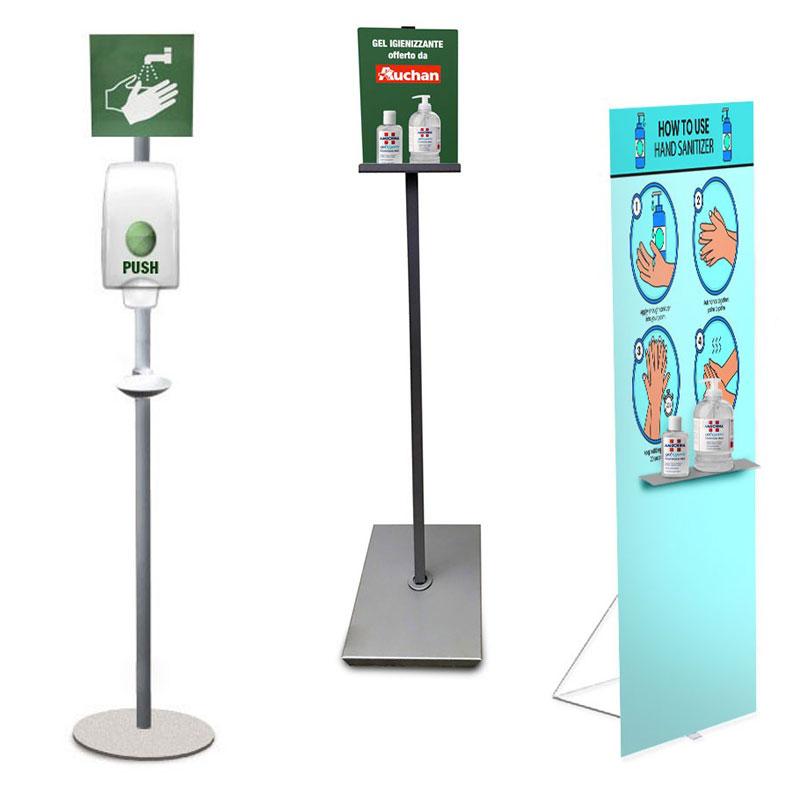 espositori accessoriati per dispenser studio stands