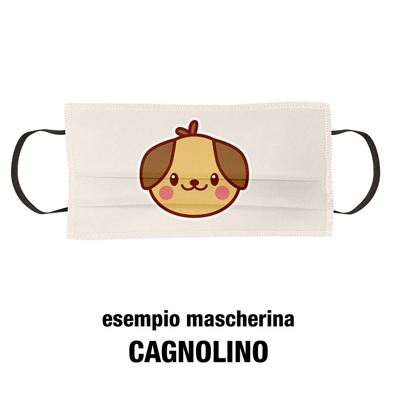 Esempio mascherine bimbi cagnolino