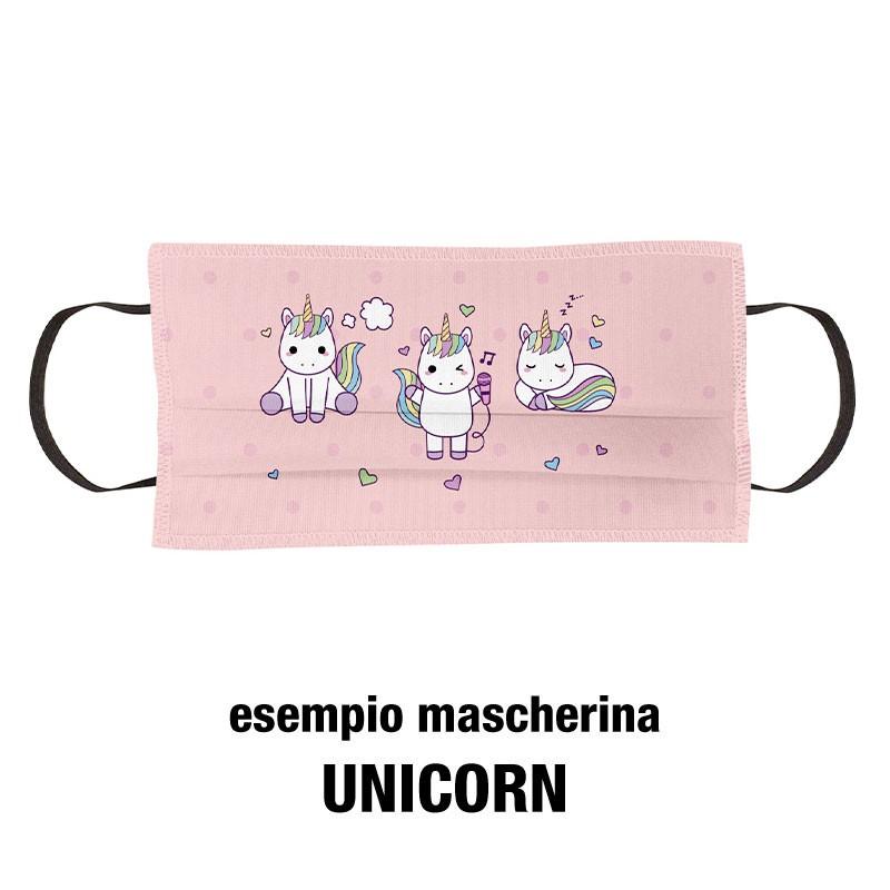 Esempio mascherine per bambini unicorn