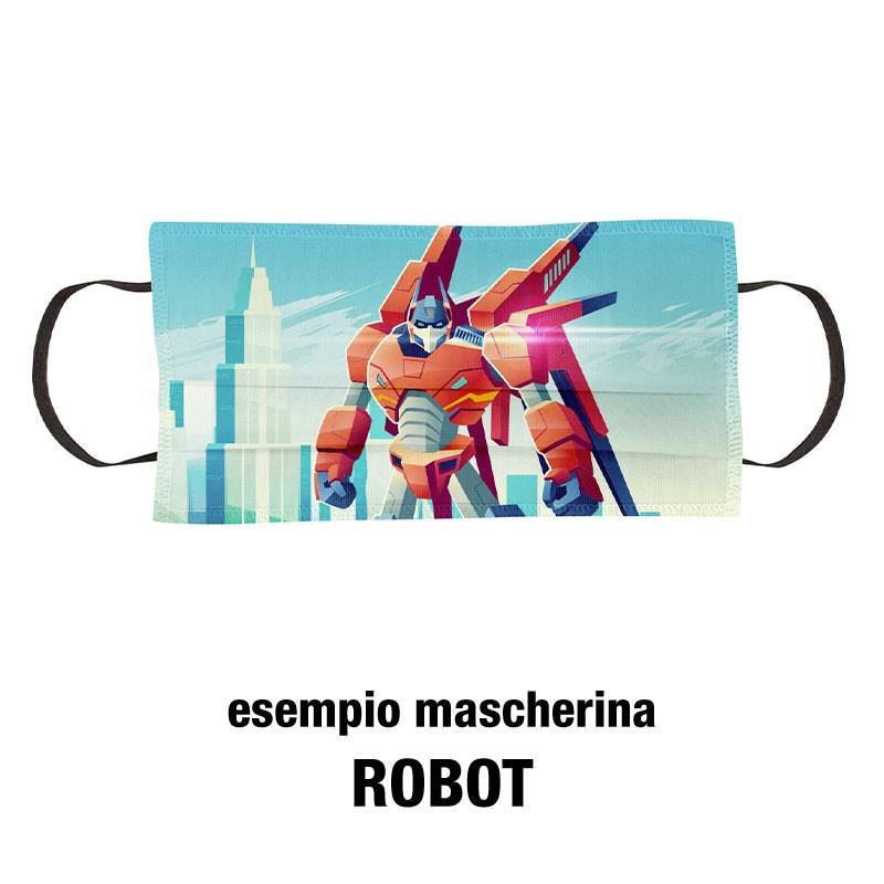 Esempio mascherine bimbi robot