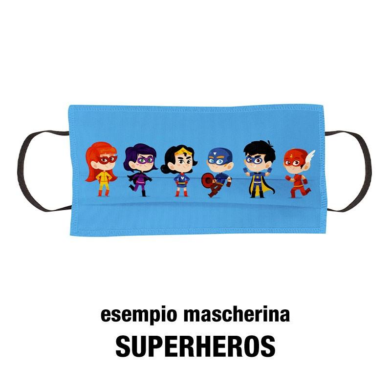 Esempio mascherine per bambini superheroes