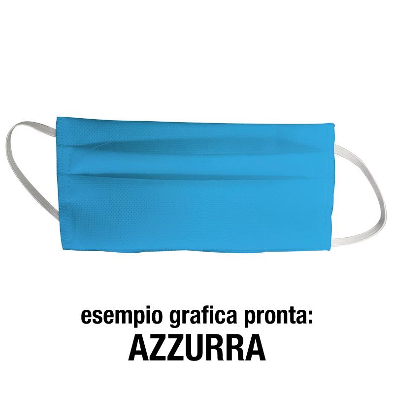 Mascherine personalizzate grafica azzurra