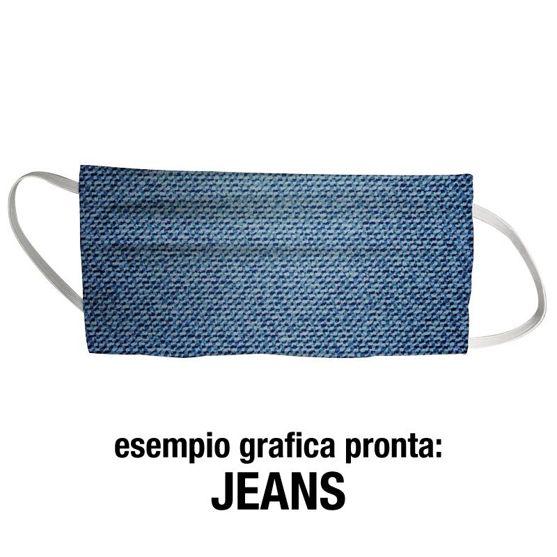 Mascherine personalizzate grafica jeans