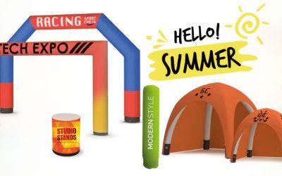 gonfiabili pubblicitari per l'estate