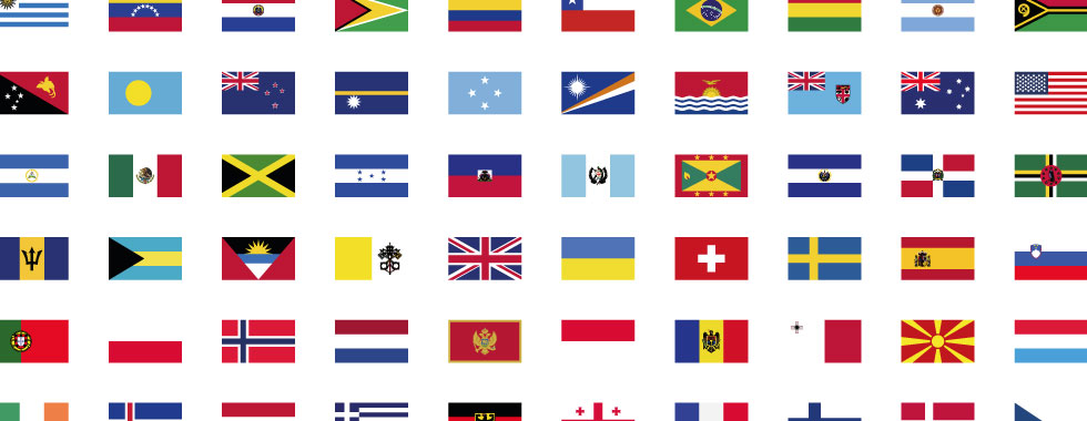 Bandiere nazionali stampa digitale