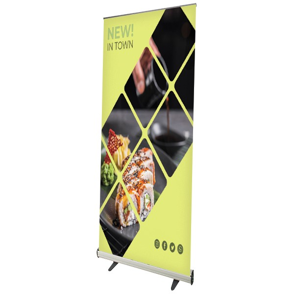 roll-up banner display in ABS